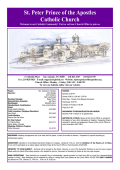 Bulletin - St. Peter Prince of the Apostles Catholic Church