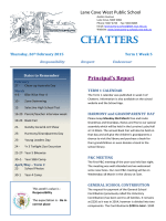 Chatters Newsletter Term 1 Week 5