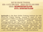 SAP BO Online Training
