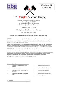 PDF Catalogue - Douglas Auction House Limited