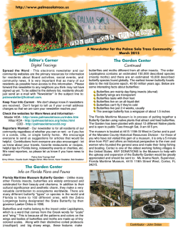 March 2015 issue - Palma Sola Tracings