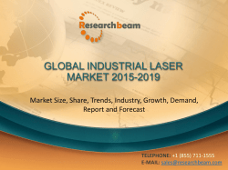 GLOBAL INDUSTRIAL LASER MARKET 2015-2019