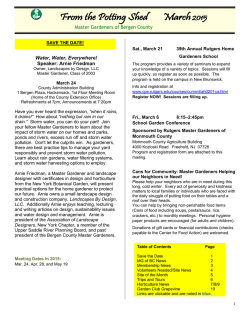 March 2015 Issue - Master Gardeners of Bergen County
