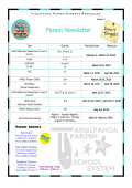 Parent Newsletter - Tangipahoa Parish Schools