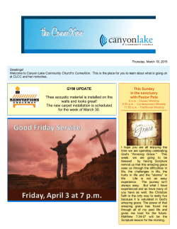 To go to pdf of - Canyon Lake Community Church
