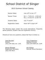 2015 Summer School Catalog