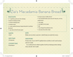 Zia,s Macadamia Banana Bread - Giada De Laurentiis`s Recipe for