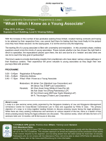 ���What I Wish I Knew as a Young Associate���
