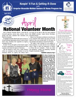 Newsletter 19 ��� Apr 2015 - Arnprior Braeside McNab Seniors-at-Home