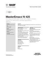 MasterEmaco N 425 Product Data - Coastal Construction Products