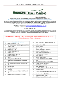 the catalogue - Eriswell Hall Barns