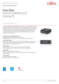 Data Sheet FUJITSU ESPRIMO Q520 Desktop PC