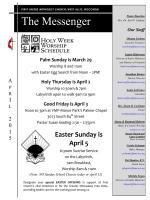 Newsletter - First United Methodist Church of West Allis