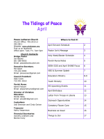 Tidings Newsletter.pub - Peace Lutheran Church Dresser, WI