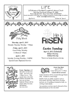 Current LIFE Newsletter - St. Mark Evangelical Lutheran Church