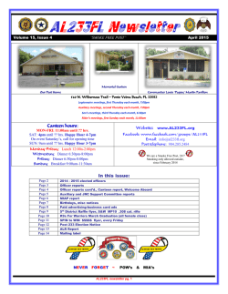 April 2015 Newsletter is now online