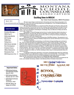 SCHOOL COUNSELORS - Montana School Counselor Association