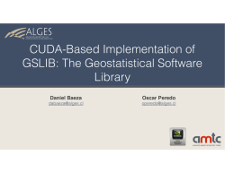CUDA-Based Implementation of GSLIB: The Geostatistical Software