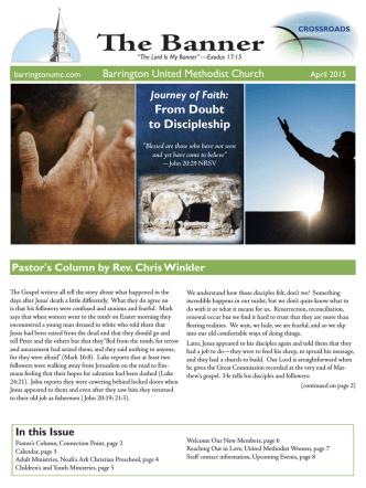 April, 2015 issue - Barrington United Methodist Church