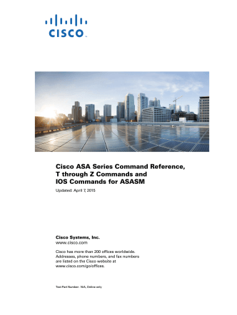 Cisco ASA Series Command Reference, T