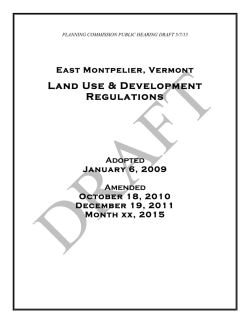 Land Use & Development Regulations