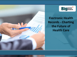 Electronic Health Records - Charting the Future of Health Care