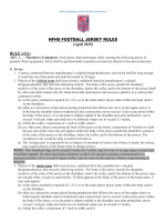 NFHS FOOTBALL JERSEY RULES (April 2015) RULE 1-5-1:
