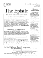 The Epistle A Greeting - St. Paul`s Episcopal Church