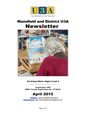 April 2015 - Mansfield U3A
