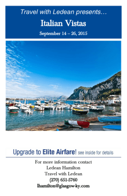 Italian Vistas - Travel with Ledean