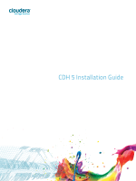 CDH 5 Installation Guide