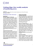 Cutting Edge: Our weekly analysis of marketing news