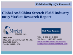 Global and China Stretch Plaid Industry 2015 Market Outlook Production Trend Opportunity