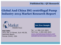Global and China ISG centrifugal Pump Industry 2015 Market Research Report