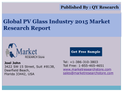 Global PV Glass Industry 2015 Market Research Report