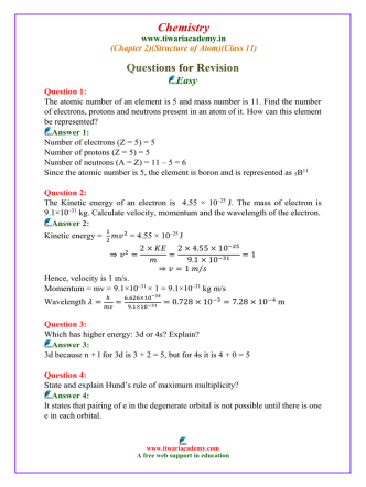 class 11 chemistry solved questions chapter 2