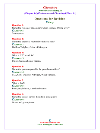 class 11 chemistry solved questions chapter 14