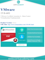 Get Actual VMware 1V0-601 Exam Questions and Answers