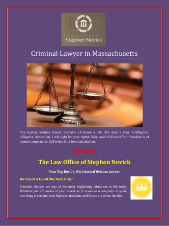 Criminal Lawyer in Massachusetts