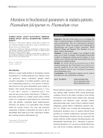Alteration in biochemical parameters in malaria patients. Plasmodium falciparum vs. Plasmodium vivax