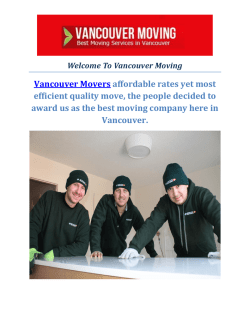 Most Trusted Vancouver Moving Company