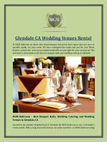 Glendale CA Wedding Venues Rental