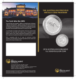 2016 Australian Kangaroo Silver Bullion Brochure