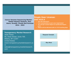 Cancer Genome Sequencing Market - Global Industry Analysis, Size, Share, Growth, Trends And Forecast 2014 - 2022