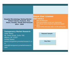 Hospital Microbiology Testing Market - Global Industry Analysis, Size, Share, Growth, Trends And Forecast 2014 - 2020