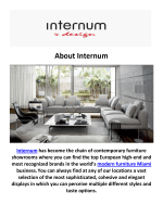 Internum Modern Furniture Miami