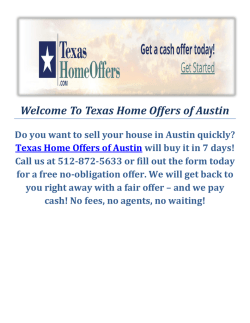 We Buy Ugly Houses Austin - Texas Home Offers of Austin