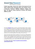 Aquaculture Market Forecast Report to 2020