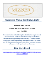 2102 NW 3RD AV, DELRAY BEACH, FL 33444 : Lake Ida Homes for Sale By Mizner Residential Realty
