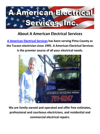 A American Electrical Services : Electrician Tucson AZ